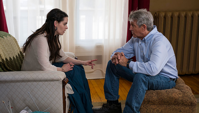 Emily Hampshire and Eric Roberts...