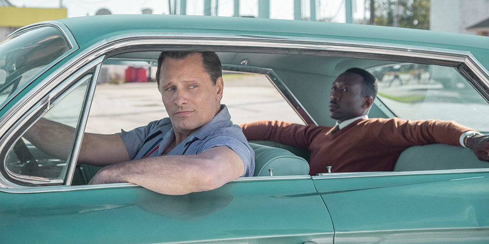 A beefy Viggo Mortensen in a scene from Green Book.