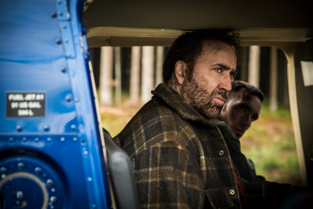 Nic Cage, not yet losing his sh— in Mandy. Tick, tick, tick…