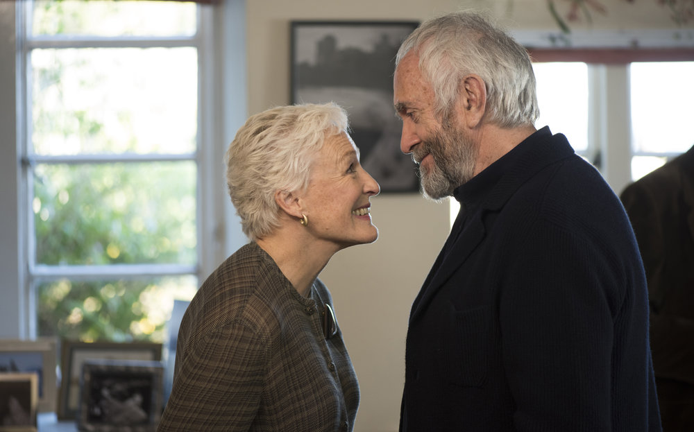 Glenn Close and Jonathan Pryce in The Wife. As a couple, they make no sense.
