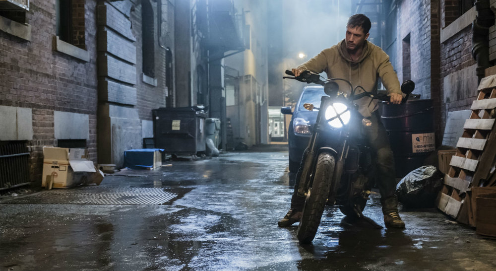 Tom Hardy as a crusading journalist trying to outrun his fate