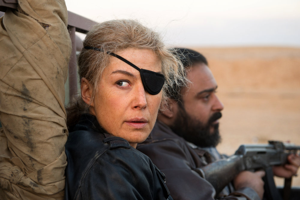 Rosamund Pike and Jamie Dorman look for war crimes in Iraq in A Private War