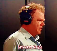 Reilly, hard at voice work
