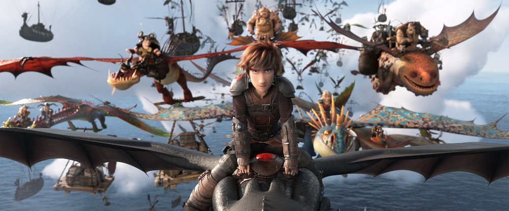 Hiccup (Jay Baruchel) leads a dragon army into the unknown in How To Train Your Dragon: The Hidden World