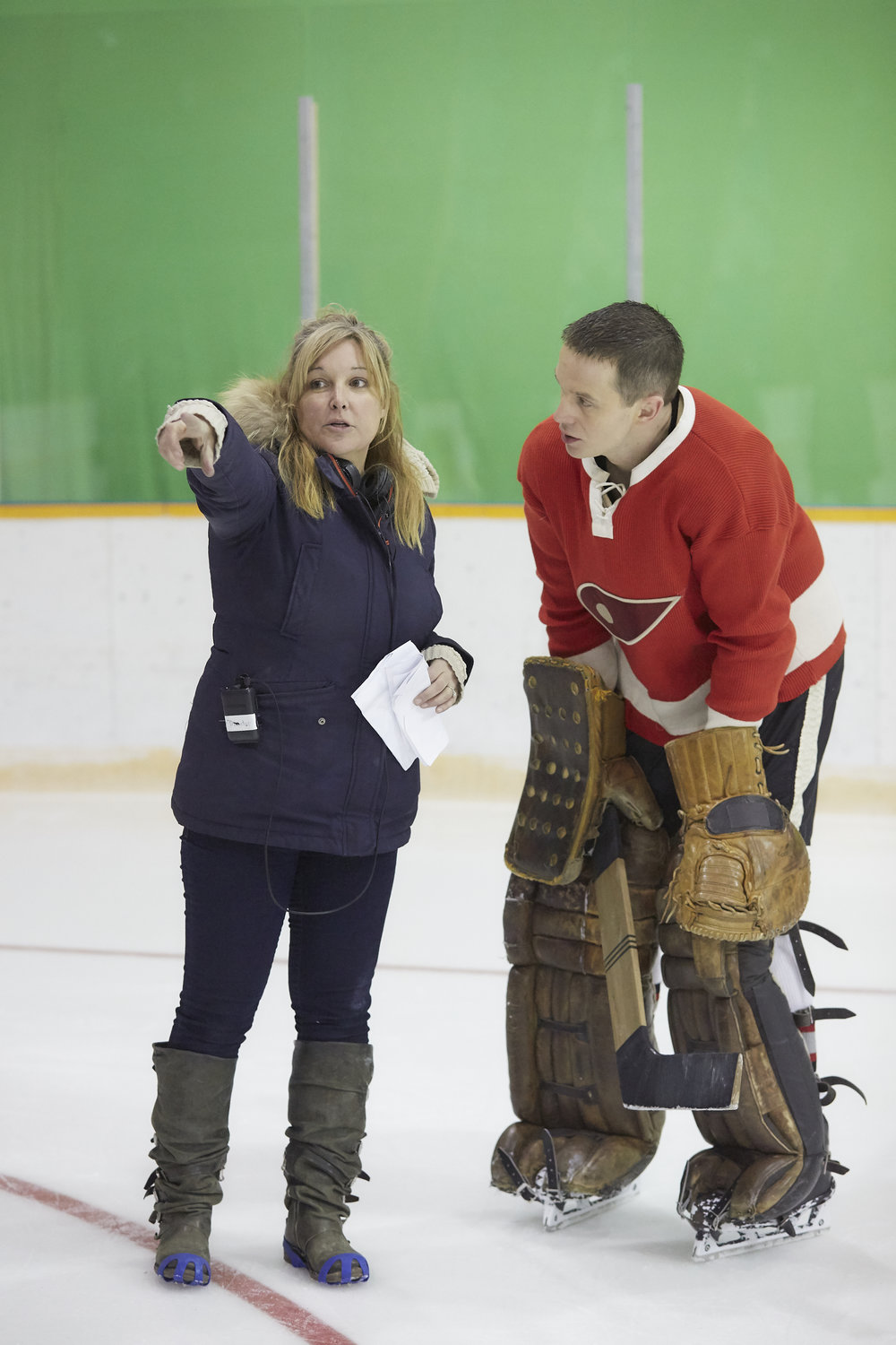 Director Adriana Maggs plans Terry Sawchuk's next play with star Mark O'Brien in Goalie