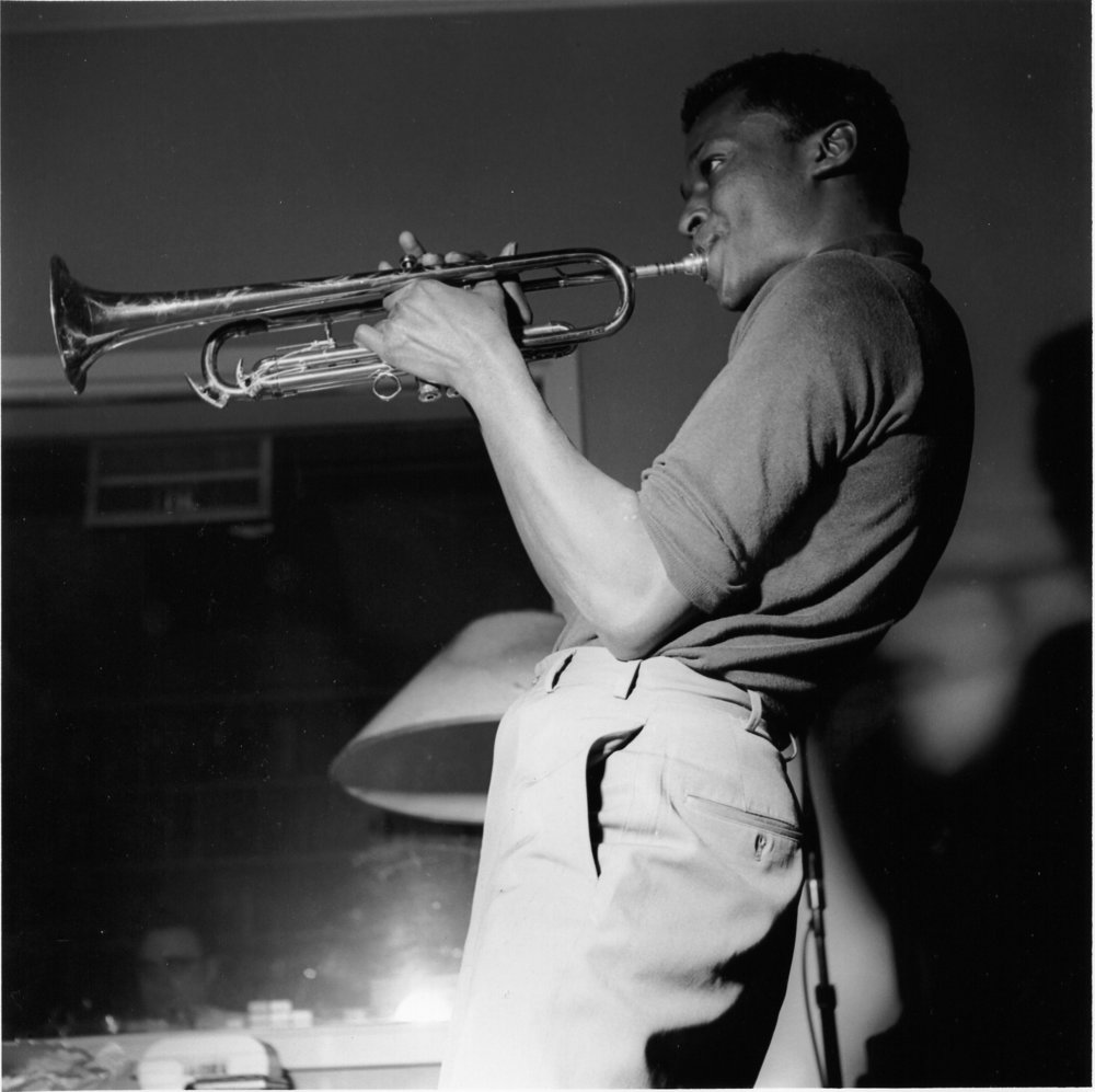 A young Miles Davis, part of the early Blue Note roster.
