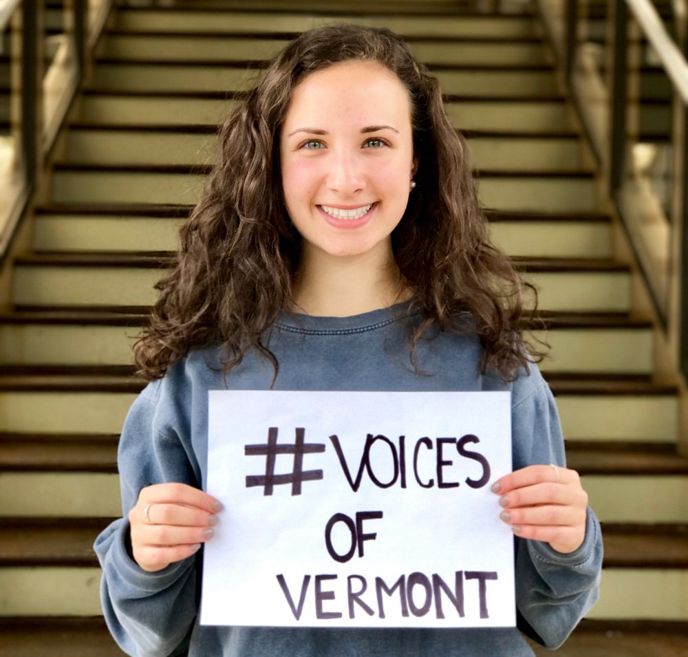 "Voices of VT  -""Vermont has the potential to be a sanctuary state for the most vulnerable, specifically refugees, because we are such a close knit inclusive community. This aspect of community is a part of our culture here in Vermont."""