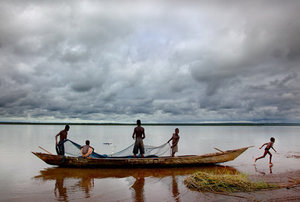 Children on the Volta Lake