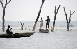 The apocalyptic landscape of the Volta Lake