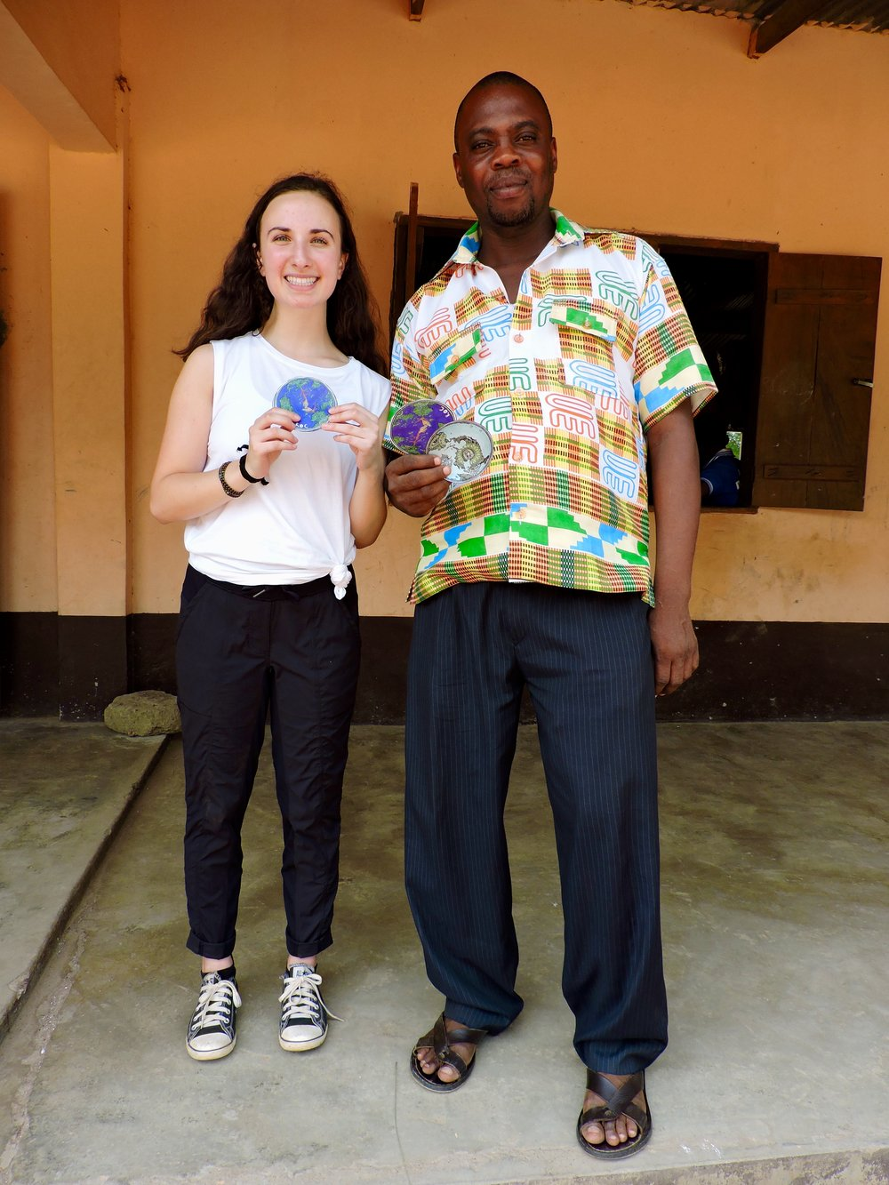 Felix (the headmaster) and I at Have Junior High School