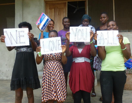Students in Ghana thanking Project GIRL for their donations