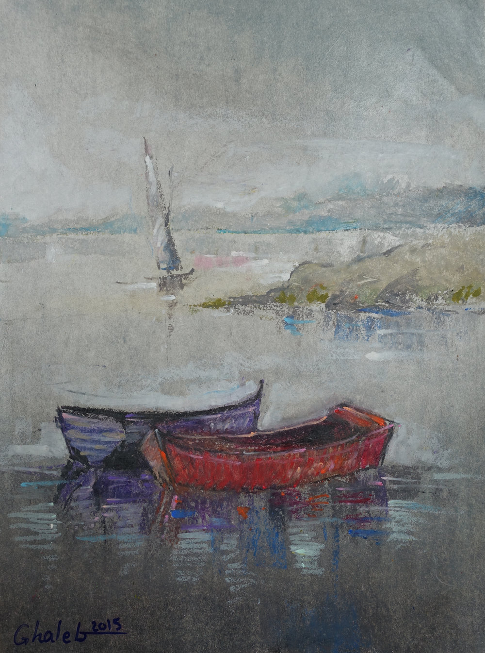 Ghaleb Al-Bihani, Two Boats, 2015.