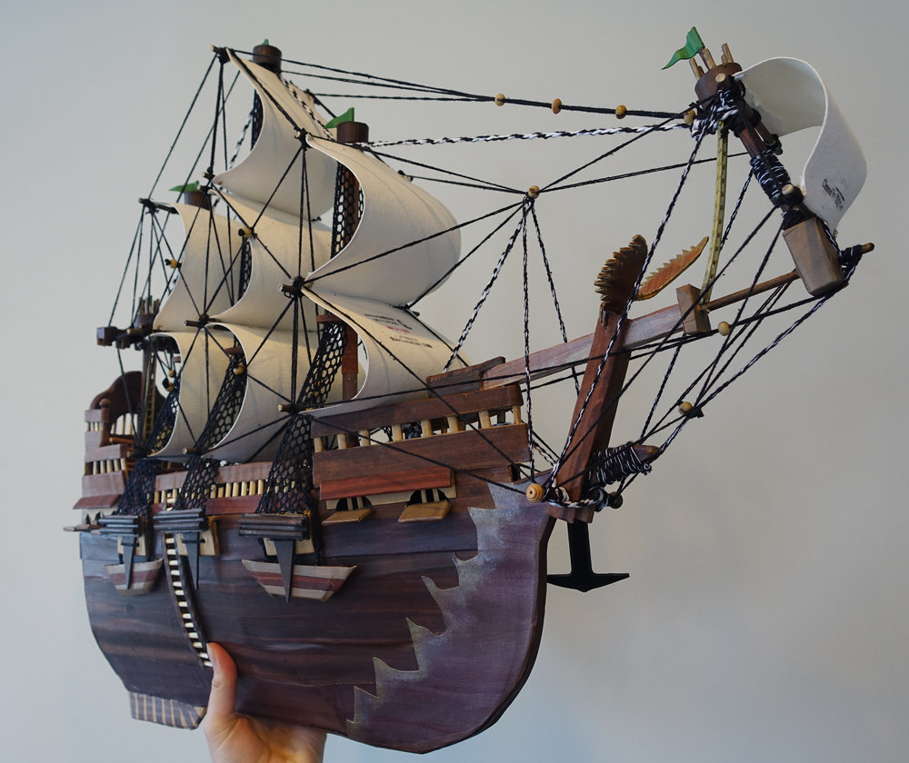 Moath al-Alwi, Model of a Ship, 2015.