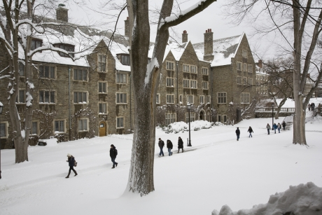 Students outside Balch Hall on North Campus - University Photography file