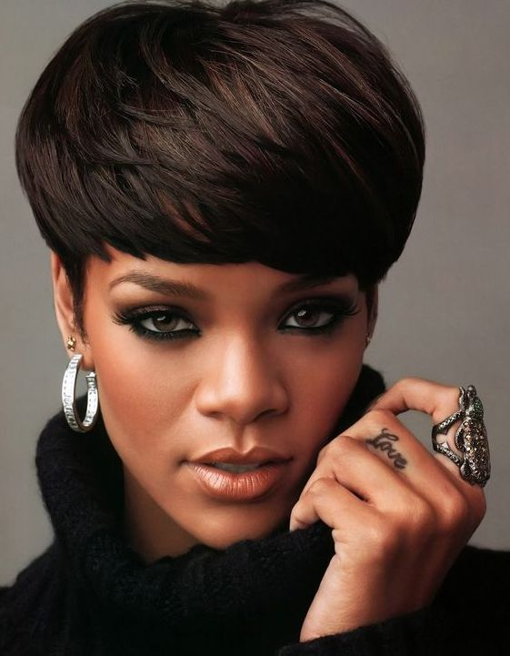 Rhianna Mushroom Haircut