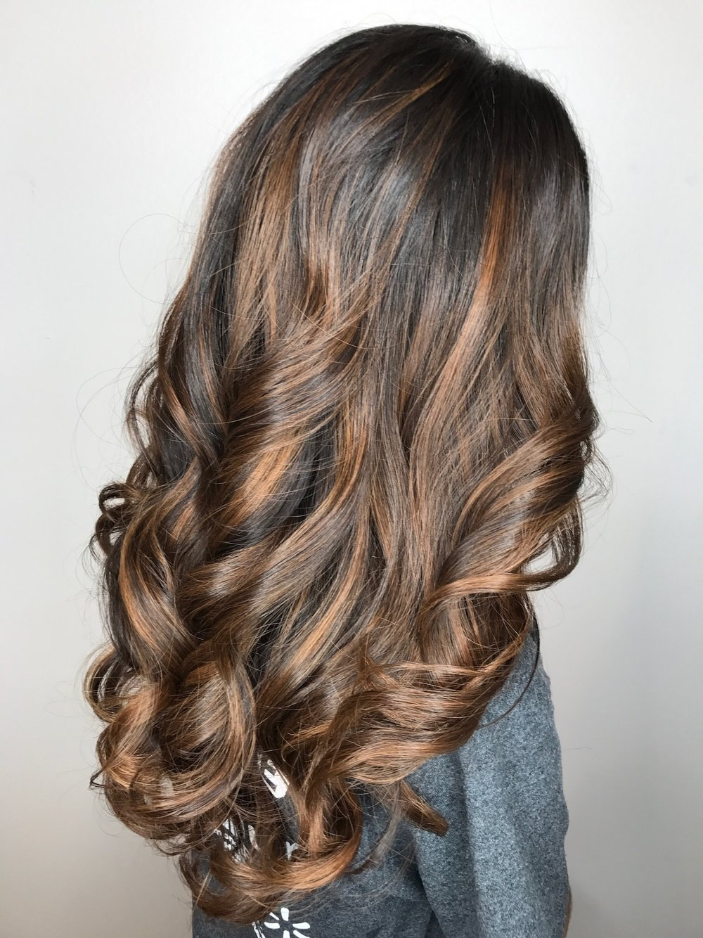 Caramel Highlights Highland Village TX