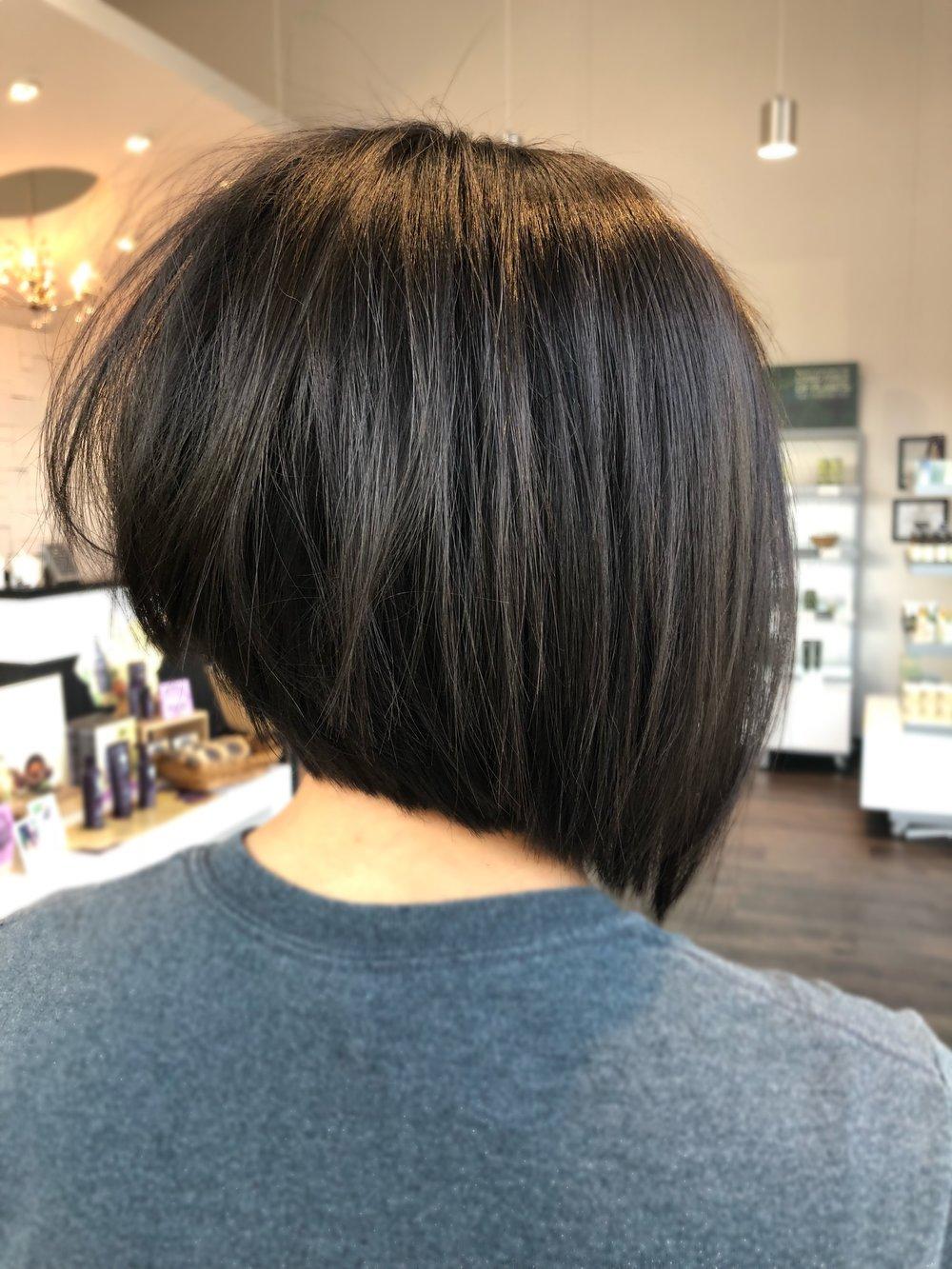 Asymmetrical Bob Haircut Dallas