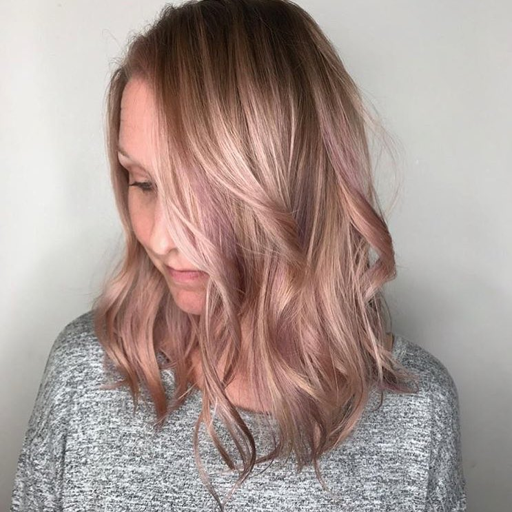 pink hair color Dallas salon