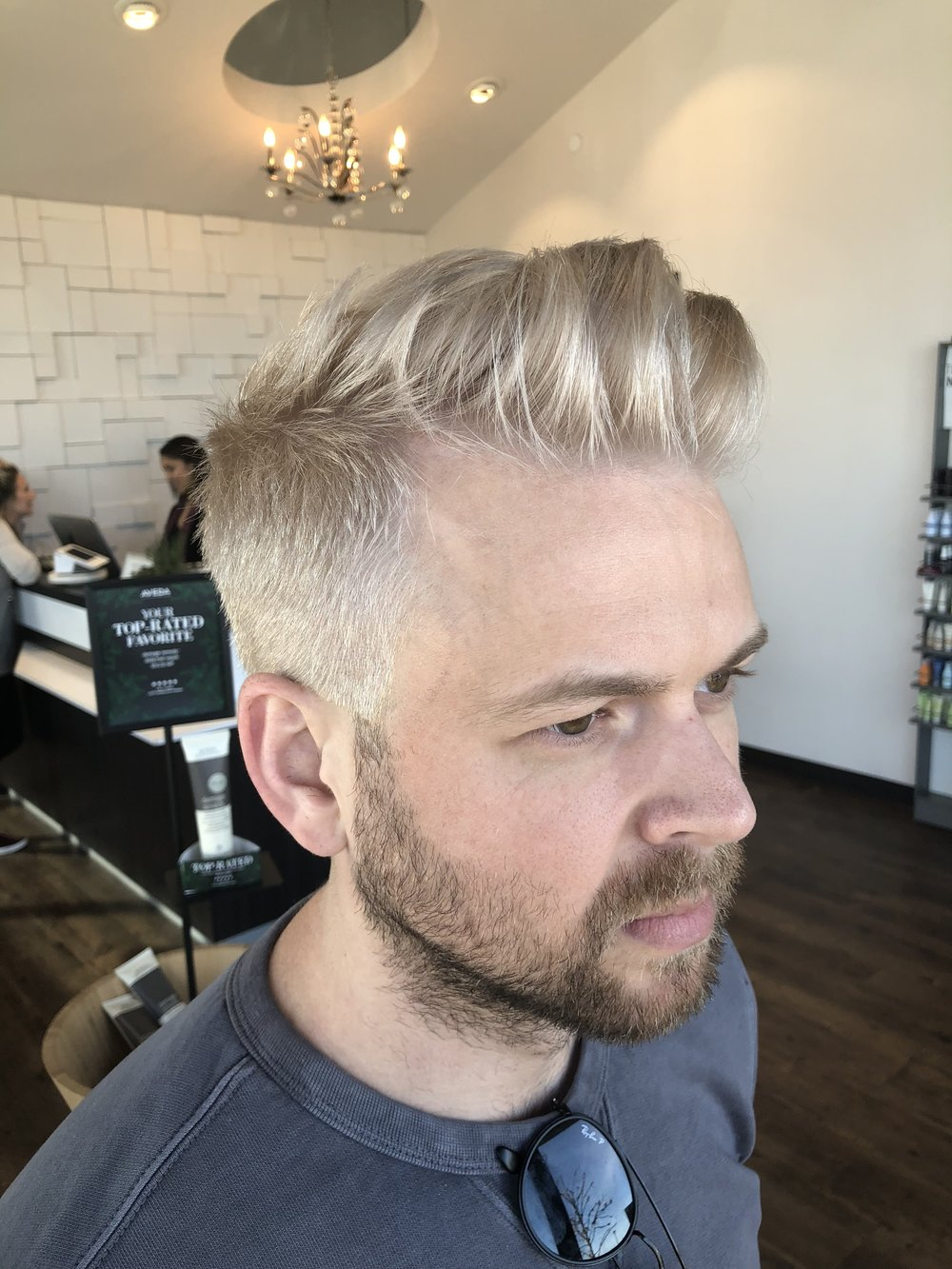 mens haircut and hair color dallas salon