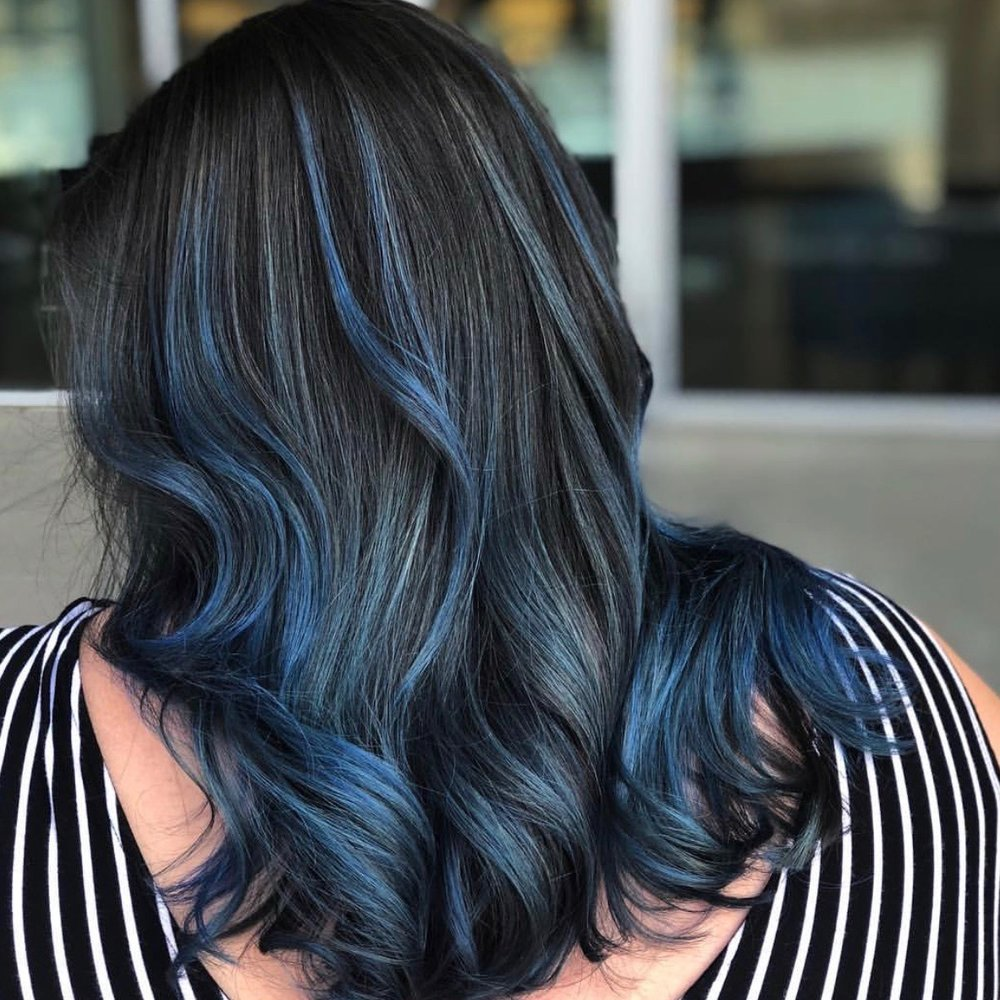 Blue Hair Balayage Frisco TX