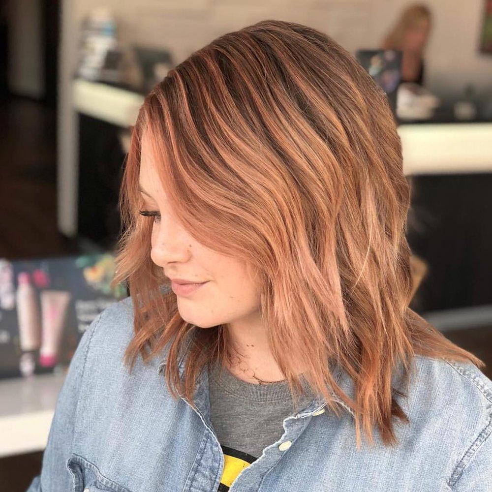 Rose Gold Hair Color Dallas Texas