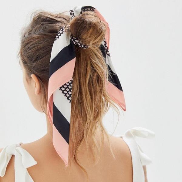 Lana Silk Scarf Scrunchie - Urban Outfitters   $12