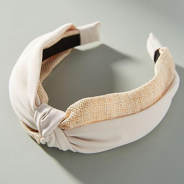 Raffia Twist Headband - Anthropologie   $18
