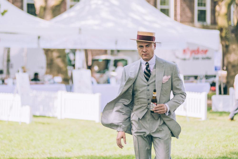Arenella in his Alan Flusser Custom lightweight wool 3-piece suit.