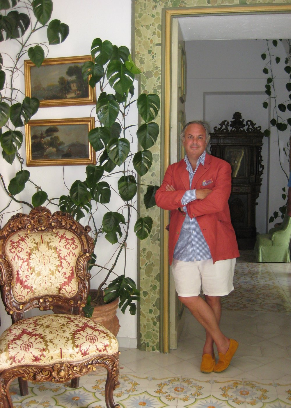 Inside Le Sirenuse in Positano.
