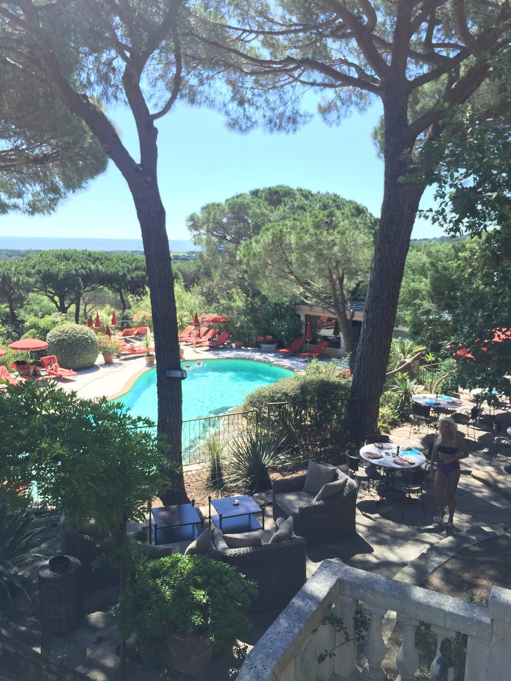 Villa Maria's rock-lined pool.