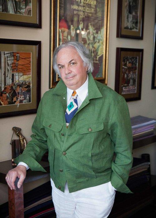 Alan Linen Denim Trucker Jacket