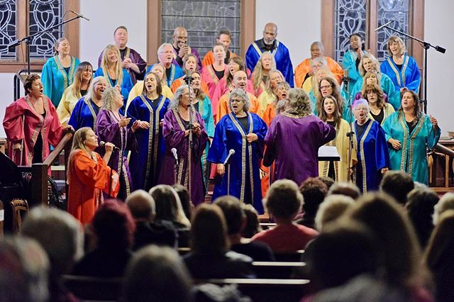 """This Saturday, March 23 at 7 p.m. the choir is holding a special """"Love Thy Neighbor"""" concert to benefit our home church, the Arcata Presbyterian Church. There will be free refreshments plus a silent auction and raffle. Tickets are $15 advance in Wildberries or $18 at the door (corner of 11th and G in Arcata). Come join us!  #joyfulnoise #arcata #interfaith #gospelchoir #humboldt #music #presbyterianchurch #benefit"""