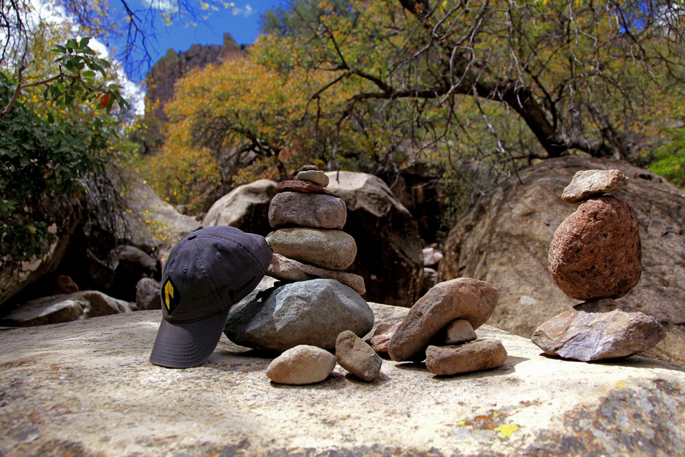 A Cairn out in the wild along the trail in Big Bend National Park
