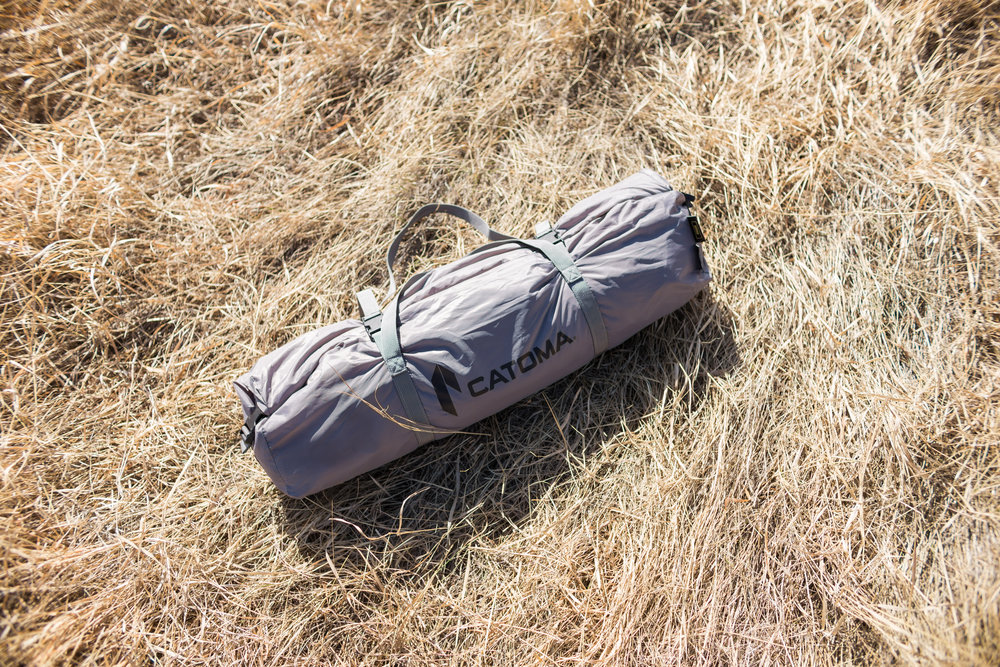 The Raven packs down into the included carry bag