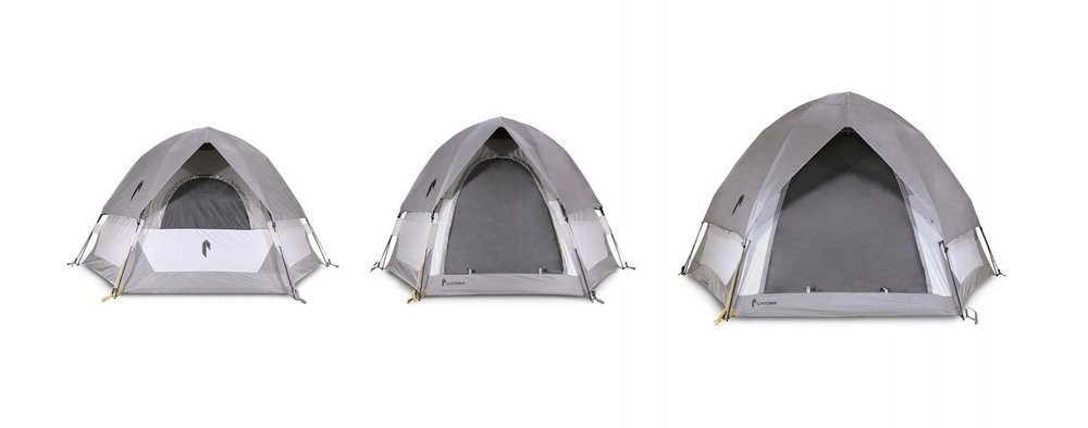 The Newly designed SpeeDome shelters // Left to right: Falcon (Window Side View) / Raven / Eagle
