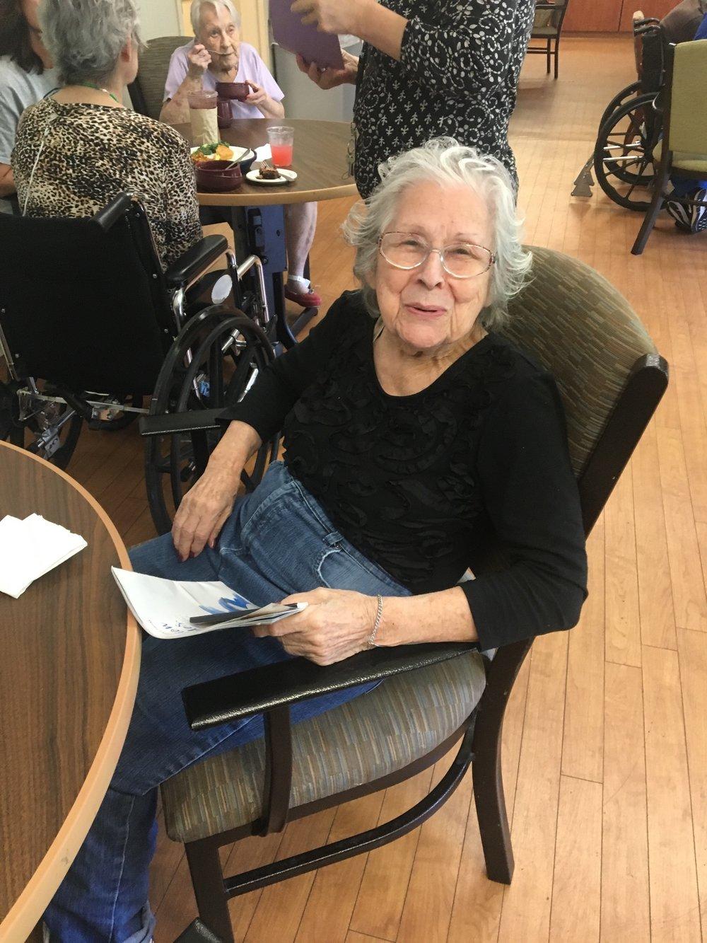 Greetings from regis Woods & Opals' Spokes-Senior - Mary of Regis Woods