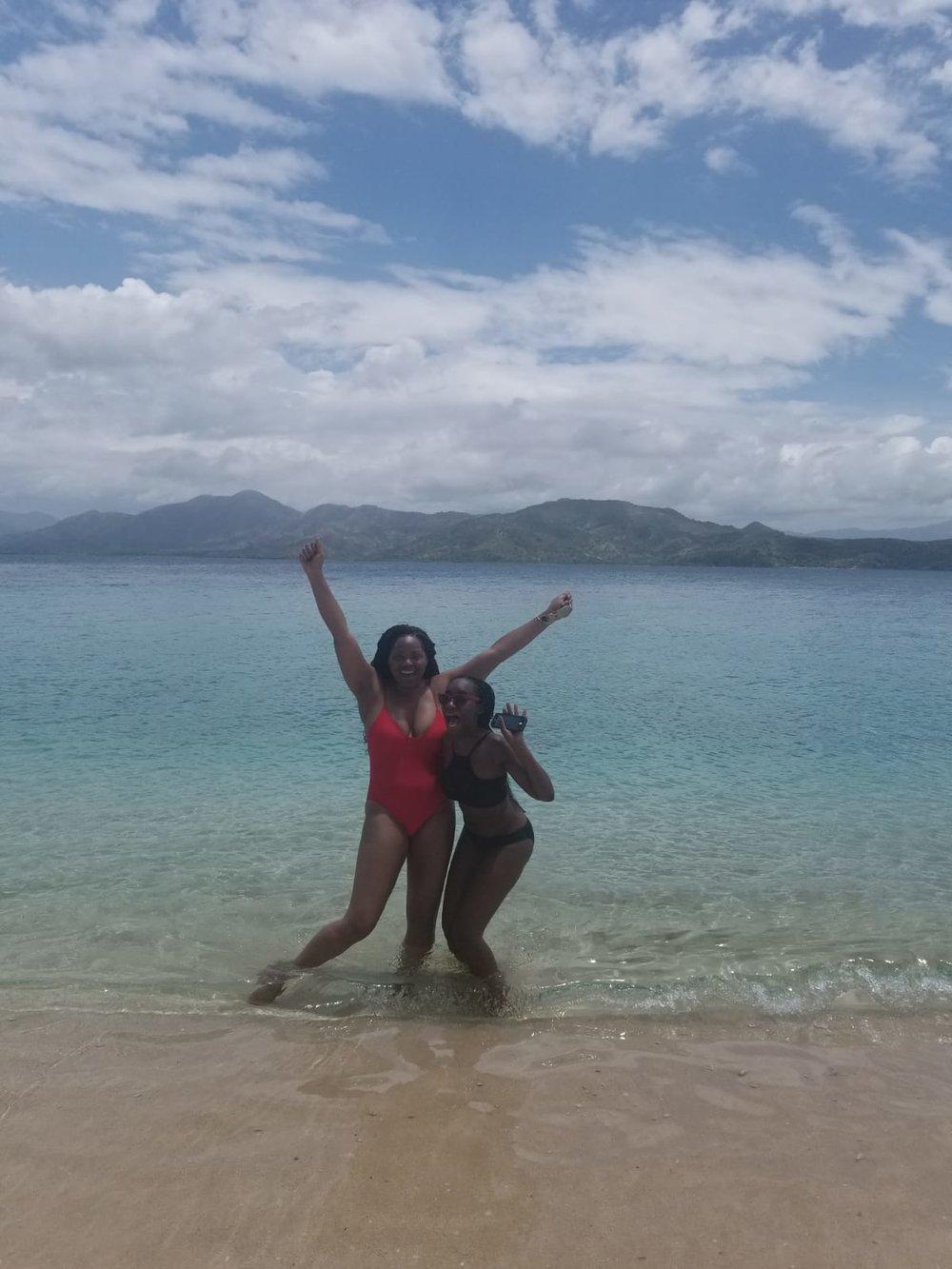Dana and Daphney at beach.jpeg