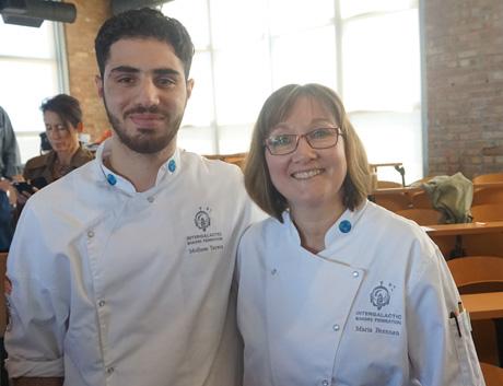 Molhem Tayara with Maria Brennan.