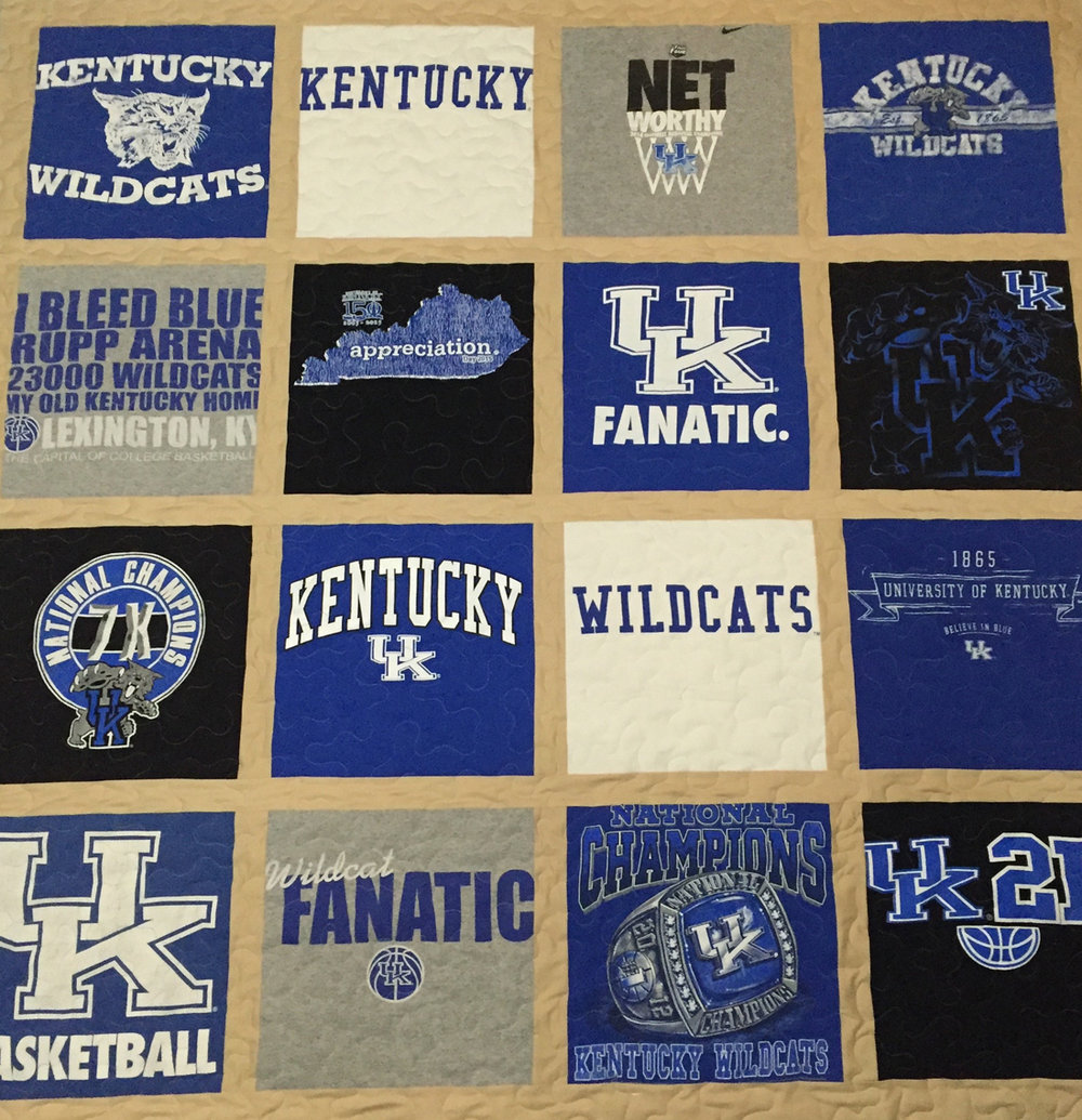 T-shirt Quilts - turn your shirts and clothing into a cherished memory quilt
