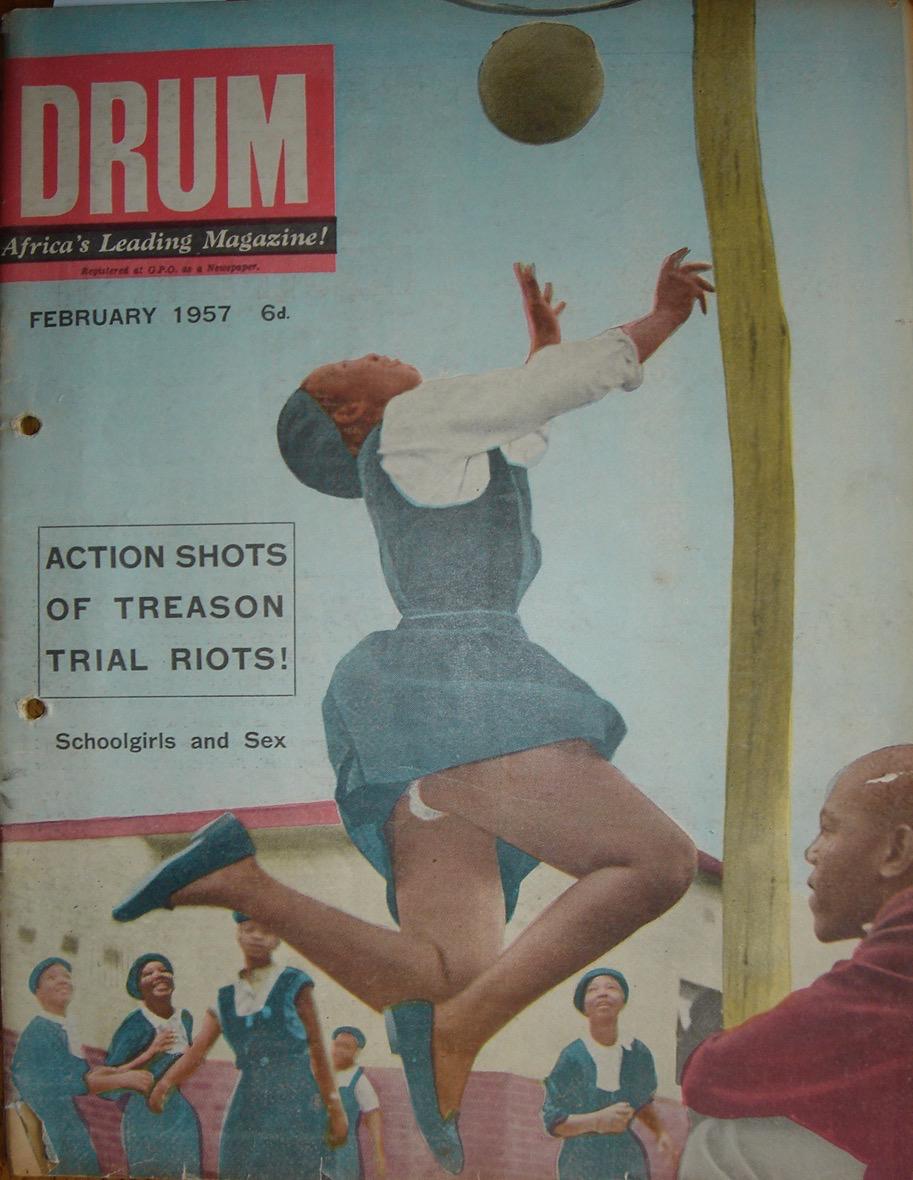 February 1957 cover. Cover image: Jurgen Schadeberg