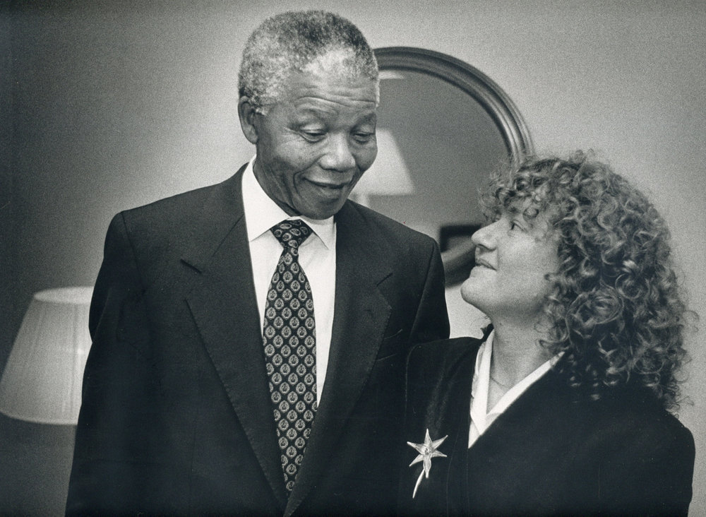 - Sylvester's daughter Lyndall gets to meet Mandela.Photo: Laurie Sparham