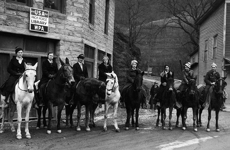 Librarians on horseback - if there are no libraries and no passable roads........get a team together to innovate