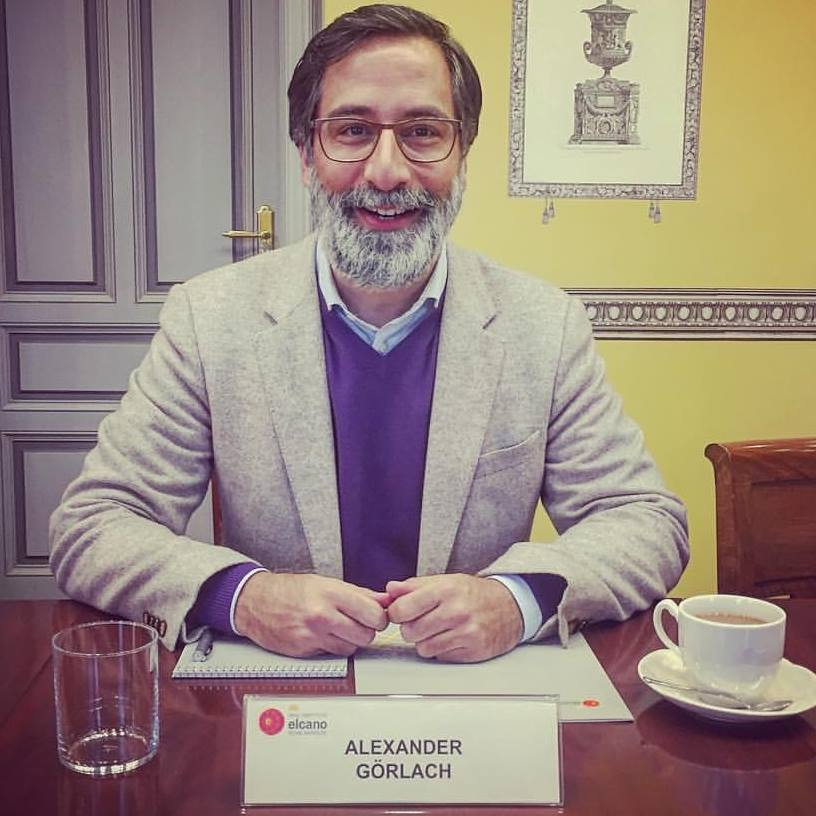 Alexander Görlach at the Royal Institute Elcano in Madrid, prior to a speech he was invited to give to a group of policymakers and journalists in January of 2017.