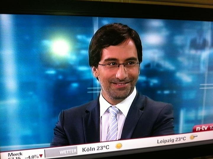 Alex has been a TV and radio pundit over years. In Germany, he made regular appearances at N24, Deutsche Welle, ZDF, and n-tv. This photo was taken in 2011.