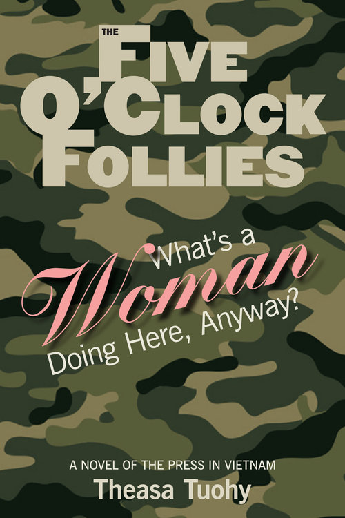 """1. To what does the title refer:  The Five O'Clock Follies ? What does this name coined by the war correspondents suggest about their perceptions of the military bureaucracy? As you progress through the novel, do you feel the name to be appropriate? Why or why not?    2. What first impression does Angela make on Nick O'Brien and Bo Parks when she first steps off the plane in Saigon? What impression does she make at the first military briefing? What problems face an unknown free lancer in a war zone? What problems face an attractive woman beginning a free lancing career in a war zone? Is gender bias currently a problem in the United States? With help, Angela evolves as a war correspondent. How do opportunity and acceptance happen for her? How is Nick instrumental in her success? How does her story-seeking nature contribute?    3. Some characters seriously influence Angel's opportunities and perceptions as she begins her career as a correspondent in Saigon. How and why do some characters go out of their way to help her? Consider Bo Parks, Mac Wheeler, John Simenson, George, the Medevac pilot. Does Ford Curtis fit into this category as a """"helper""""? Why or Why not?    4. Angela observes late in the novel that Nick """"lacks emotional participation."""" Do you agree? Do you receive some insights about why this may be true of him? How does this """"flaw"""" manifest itself? Do you see Nick growing emotionally as the novel progresses? What does his behavior after Cholon suggest about Nick? What does his acceptance of Curtis as her romantic choice suggest about him? Explain.    5. Explain the trauma Angela experiences during the Medevac expedition and at Khe Sanh? How does Nick's sensitivity bring Angela and him closer emotionally? Explain. They had begun to trust each other early in the novel and actually admitted to being """"best friends"""" previously. What events with the """"white mice"""" and Tet offensive led to this trust and friendship?    6. Angela seems conflicted about love. How might """