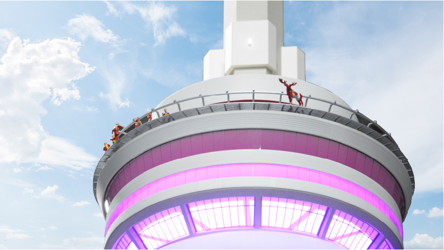 He then went on to travel the iconic CN tower and somehow found his way to the top, his hooves were not going to stop him! - June 26, 2018