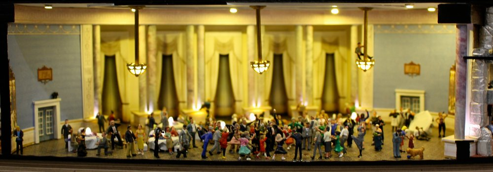 A wedding party scene created by Dr. Detail, Spencer Barclay.
