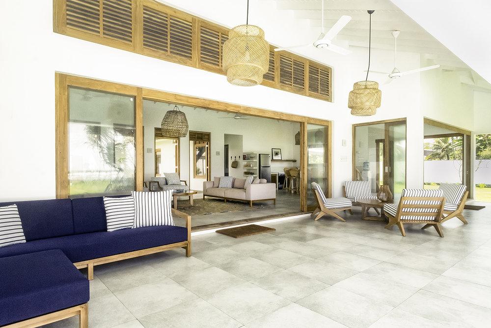 The shaded verandah of Tea Tree
