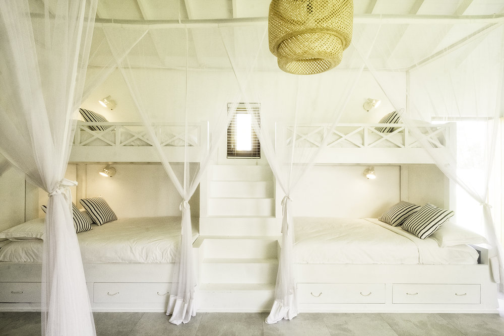 Two of the three double-bunks in the Kids Room
