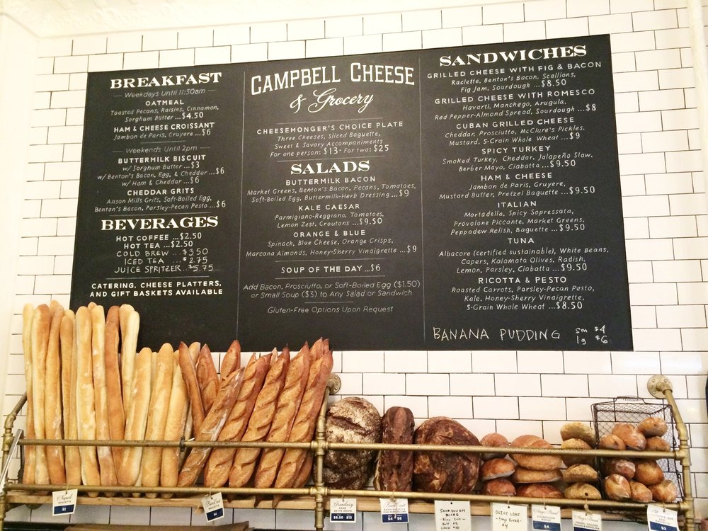 Campbell Cheese Menu